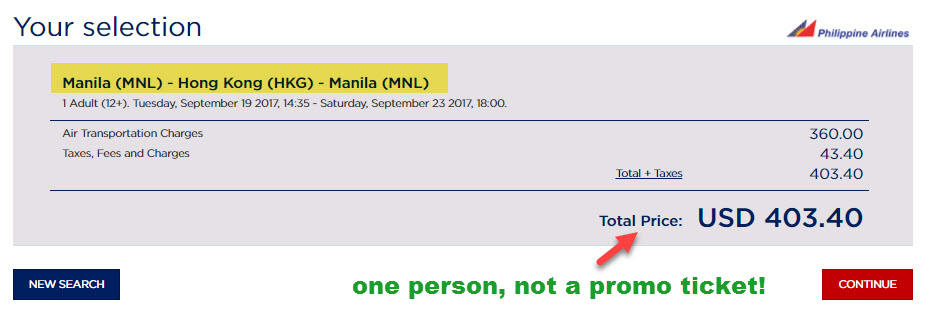 Flying with Philippine Airlines on a Promo Fare | Penfires