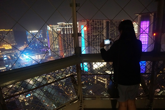 View from top Eiffel Tower Macao