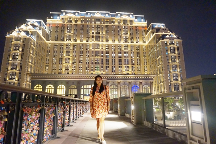 Parisian Macao Hotel at Night