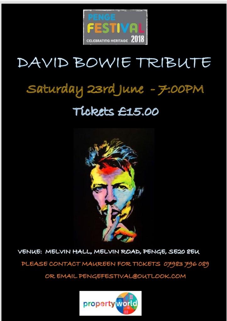 David Bowie Tribute - Penge Festival 2018