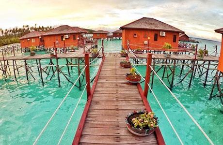 Maratua Paradise Resort Berau 1 - 7 Penginapan Tepi Pantai Paling Indah di Indonesia
