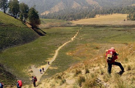 Jalur pendakian Gunung Semeru (sumber: jatimnet.com)