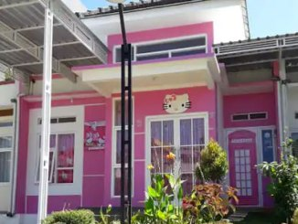 Fasad bangunan Villa Kitty Batu (sumber: traveloka)