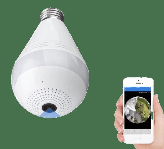 ICSEE Wifi Bulb NannyCamera 360