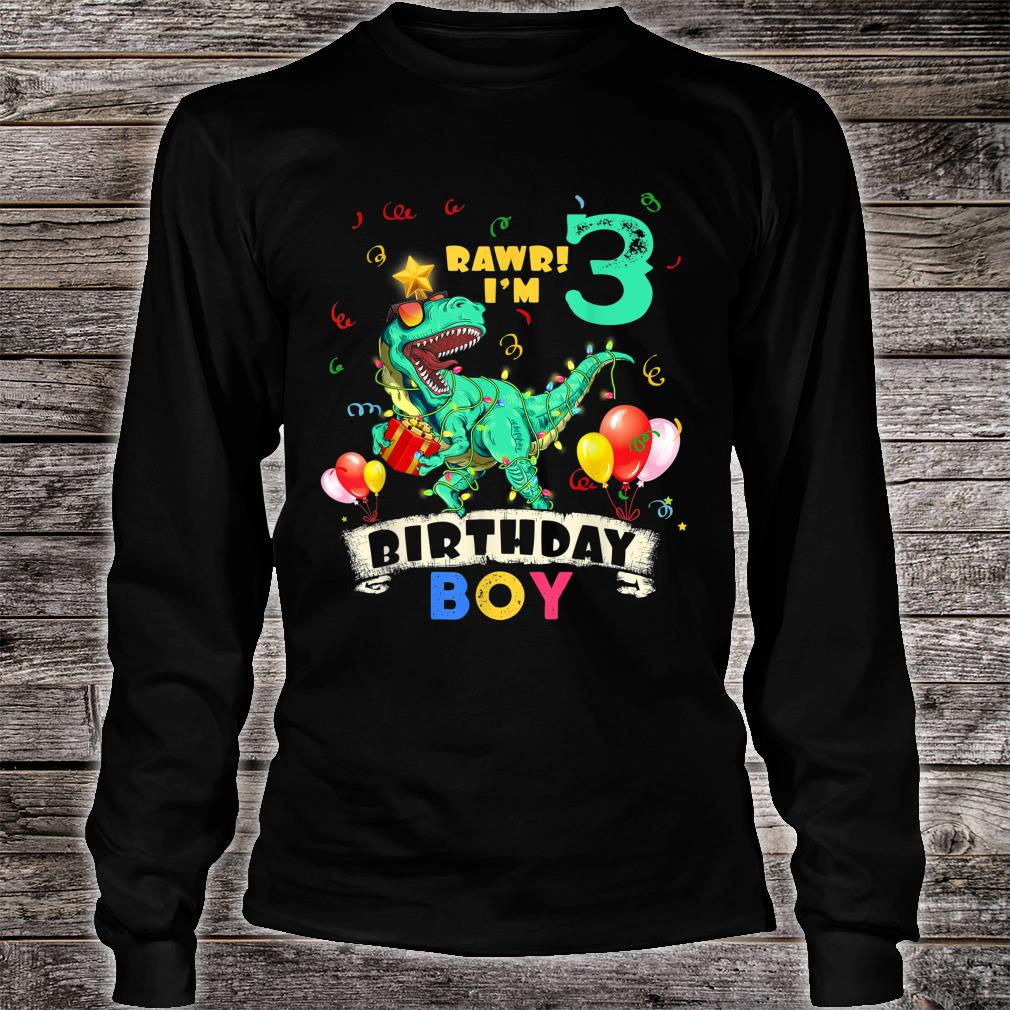 Official Dinosaur 3 Years Old Gorgeous Rawr I M Birthday Boy Shirt Hoodie Tank Top And Sweater