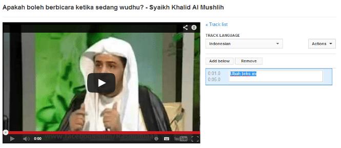 terjemah youtube