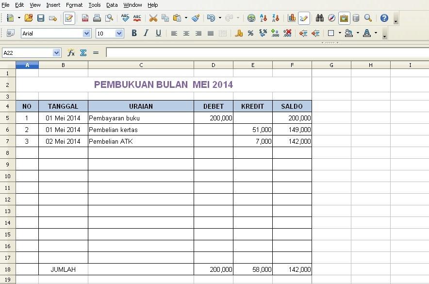 Cara Bikin Laporan Keuangan Lengkap Dengan Rumus Excel Pengusahamuslim Com