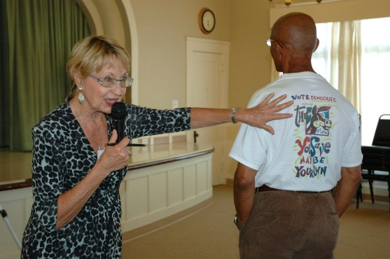 Susan and Mike Johnson modeling the club t-shirt