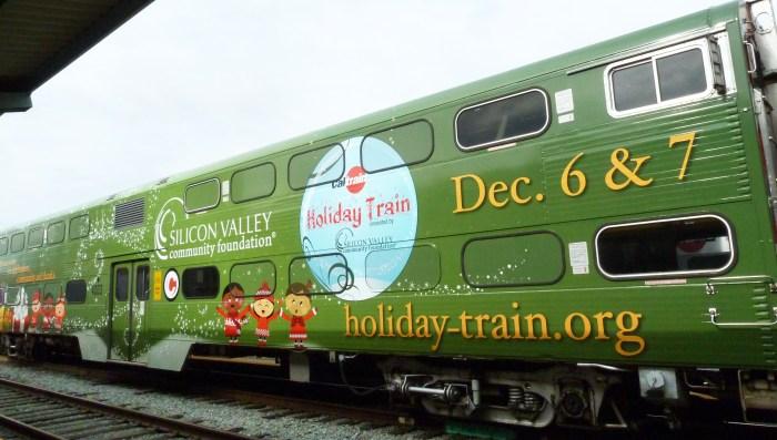 holiday train wrap