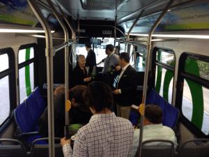 Zero emission bus.