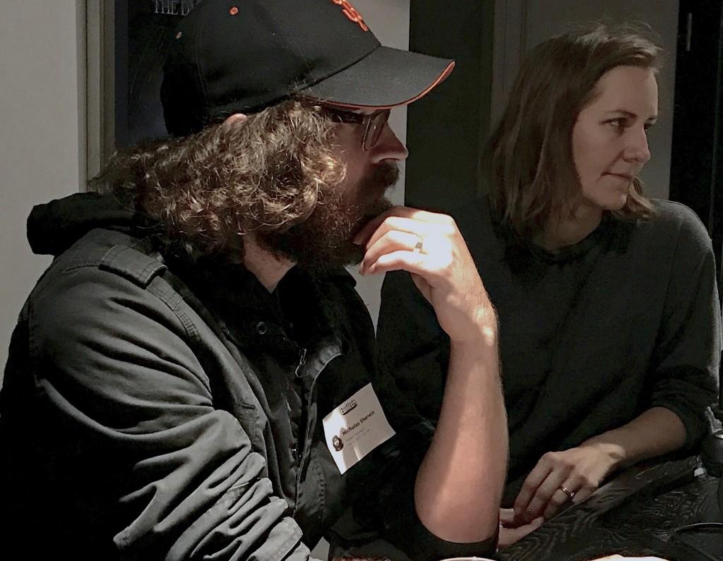 Nicholas Sherwin Jr. and Meghan McHale-Sherwin of Screenshot Productions discuss the politics of immersive theater (Sejin Paik/Peninsula Press)