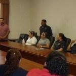 Lic. Luis Alberto López López y Raúl A. Rico Castro, rindiendo protesta como nuevos directores del área jurídica y del Centro Estatal de Control de Confianza, respectivamente.