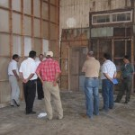 Casa Funcionarios municipales captados en la obra que realiza el Instituto Sudcaliforniano de Cultura de la remodelación de la casa de la Cultura en Santa Rosalía (Enrique Montaño).