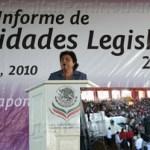 Esthela Ponce Beltrán rindió un acto de Primer Informe legislativo breve pero proyectado.