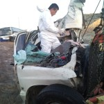 Entre los fierros retorcidos del vehículo que conducía quedó el cadáver de la mujer.(Víctor Martha).