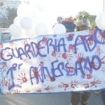 Bomberos de Cabo San Lucas, familiares y amistades participaron en una marcha pacífica y escucharon misa al cumplirse un año de la muerte de 49 pequeños inocentes en Hermosillo, Sonora (Lupita Gómez)