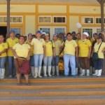 Trabajadores de la pesquera Longing en Santa Rosalía señalaron los abusos y explotación que la empresa hace (Enrique Montaño).