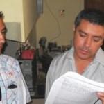 Miguel Ojeda Castañón, secretario general del Sindicato Nacional de Transportistas, y Marcelino Valdéz, de la Sección 72.