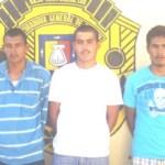Jesús Herminio Espinoza Buelna, Miguel Gonzalo Pelayo Camacho, y Herminio Antonio Buelna Noriega.