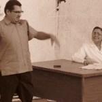 """La tarde del miércoles 25 de agosto, en el teatro Ignacio García Téllez (Teatro del Seguro Viejo), integrantes del grupo de teatro """"Zodiaco"""" interpretaron 2 obras, """"La consulta"""" y """"Mi fino y gentil amigo"""", de Norma Román Calvo, esta última."""