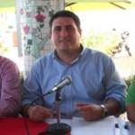Rogelio Rueda Sánchez, delegado del CEN del PRI, Ricardo Barroso, dirigente estatal priista, y Misael Sánchez, delegado del CEN del PVEM, anunciaron la Coalición por la gubernatura, alcaldías y diputaciones.
