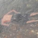 Así fue localizada esta persona sin vida en el mar.(Cuitláhuac Muñoz).