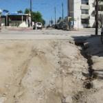 Diferentes avenidas y calles principales de cabo san Lucas sufrieron daños menores en su estructura debido al paso de la tormenta tropical Georgette.