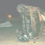 """Una persona muerta, y dos más lesionadas fue el saldo que arrojó la volcadura de un vehículo en las inmediaciones de la """"Cola de la Ballena""""."""