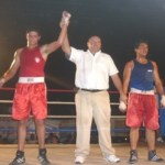 Buenas peleas se tuvieron en la eliminatoria municipal, lo que hace pensar en inmejorables resultados para La Paz en boxeo de la Olimpiada Estatal.