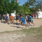 Pruebas físicas realizadas a los preselectivos de futbol del municipio de La Paz.