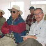 Vista parcial de los usuarios que asistieron a la reunión de COTAS en el Valle de Vizcaíno. Foto Víctor Flores Ojeda.
