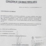 Con esta carta sencilla, el líder de Lucha Social, se va del PRD para valorar el apoyo a algún otro candidato que no sea del PRD.