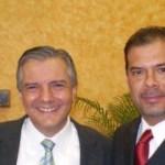 Acompañado del Secretario de SEDESOL Heriberto Félix Guerra, el vicepresidente nacional de Canacintra Roberto Chávez López.