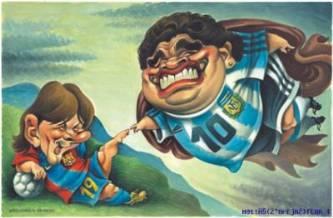 Messi «en camino a ser el mejor de la historia» según Diego