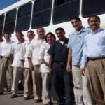 Personal de Solmar recibió con beneplácito el transporte gratuito que le da el corporativo.