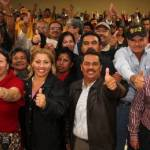 """En Los Cabos vamos a lograr más de 50 mil votos para que Luis Armando Díaz sea nuestro próximo gobernador, se comprometió el candidato a la presidencia municipal, Antonio """"Toni"""" Agúndez y dirigentes de sectores sociales del municipio."""