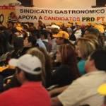 Las políticas anti laborales del Partido Acción Nacional lograron unificar a los sindicatos sudcalifornianos… pero en su contra y cerrar éstos filas a favor de los candidatos de la Coalición PRD-PT en un acto masivo realizado en el casino Bella Vista.