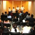 Se compromete el delegado de San Lucas a gestionar la regularizar predios en Ampliación Palmas.