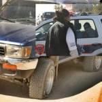 Comandando un supuesto grupo de choque impactó su vehículo contra el de ciudadanos simpatizantes del PAN-PRS a quienes también les poncharon las llantas.