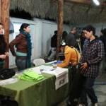 Varias mesas de exposición mostraron propuestas de ecotecnia, así como presentaron su movimiento ecologista.