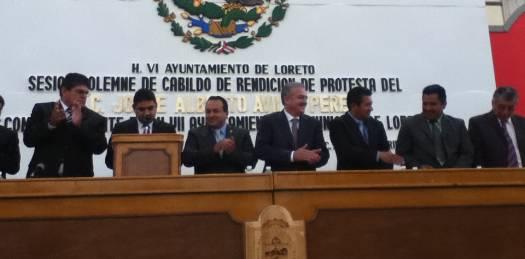 Toma posesión Jorge Avilés como alcalde de Loreto