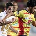En un encuentro de pocas emociones, el Morelia vino de atrás para rescatar una igualada 1-1 ante los Pumas el jueves en el encuentro de ida por la final del torneo Clausura mexicano.