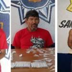 Roberto Elizalde Díaz, José Santos Inzunza Valenzuela y Manuel Ayala Miranda.