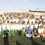 """El evento fue la tarde del domingo 25 de septiembre en las instalaciones del estadio de futbol profesional """"Don Koll""""; en donde se presentó un impresionante espectáculo artístico y el equipo local se enfrentó con el equipo del Club Deportivo de Guadalajara quienes por su experiencia, se levantaron con la victoria."""