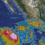 """El servicio meteorológico nacional –SMN- indicó en su último reporte que """"Irwin"""" podría cambiar de rumbo hacia el noroeste y dirigirse hacia territorio mexicano, a donde llegaría el próximo lunes."""