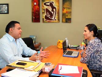 Dialogan diputado Zavala y la presidenta del DIF estatal acerca de la Ley de Seguridad Pública