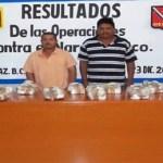 """Un decomiso de 8.79 kilogramos de enervantes por parte de elementos de las Fuerzas Armadas Mexicanas fue el resultado de una detección canina del enervante en el aeropuerto """"General Manuel Márquez de León"""" en La Paz, la nochebuena pasada."""