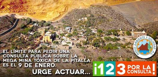 "Intensifican campaña pro-consulta pública sobre minera ""La Pitalla-San Antonio"""