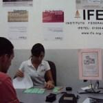 Anuncia IFE que la fecha límite para tramitar la credencial de elector vence el 15 de enero.