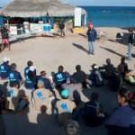 Gracias a la colaboración de WildCoast, y Amigos de Cabopulmo, los navegantes plegaron el día de ayer a conocer la reserva de la biosfera de Cabo Pulmo en donde intercambiaron puntos de vista con los habitantes de esta comunidad en torno al uso responsable de los recursos naturales.